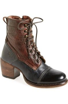 Bed Stu 'Oath' Two-Tone Cap Toe Boot (Women) available at #Nordstrom