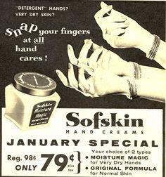 vintage 1950 face cream ads   Lulus Vintage Blog: 1950s Cleanser & Hand Cream Ads