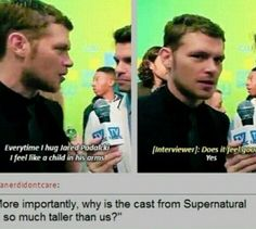 the cast of the originals vs the cast of supernatural joseph morgan and jared padalecki