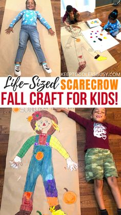 Thanksgiving Crafts For Toddlers, Halloween Crafts For Toddlers, Kids Fall Crafts, Fall Preschool, Kindergarten Crafts, Toddler Halloween, Preschool Crafts, September Kids Crafts, Fall Crafts For Preschoolers