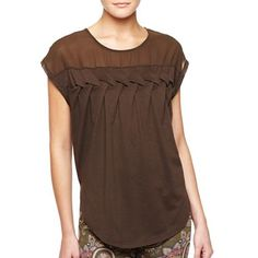 MNG by Mango® Chiffon Braided Tee - jcpenney