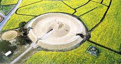 【鬼の窟古墳】 Historical Architecture, Architecture Art, Star Fort, Ancient Tomb, Walled City, The Past, Scenery, Japanese, Forts