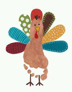 Foot print turkey #ilovejbf #Allentown #kidcrafts