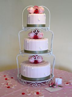 """My friend loved this Maisie Fantasie """"Paris in Spring"""" wedding cake. I made it for her but made sugar flowers instead of the real ones in the original.   repin it"""