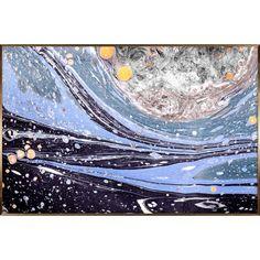 海,星辰,梦幻,蓝色,金色,抽象,现代,艺术,晶瓷,装饰,挂画, Sea,Star,Blue,Golden,Modern,Art,Abstract,Crystal,Porcelain,Decorate,Painting