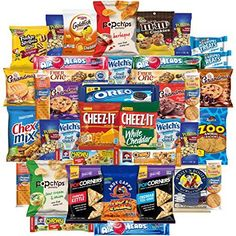 Cookies Chips & Candies Snacks Variety Pack Bulk Sampler Assortment (Care Package 40 Count) * Read more at the image link. (This is an affiliate link) #healthysnackinbulk