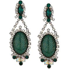 TOPSHOP Premium Emerald and Crystal Drop Earrings (1 455 UAH) ❤ liked on Polyvore featuring jewelry, earrings, accessories, green, emerald jewelry, emerald earrings, crystal jewellery, crystal earrings and emerald green jewelry
