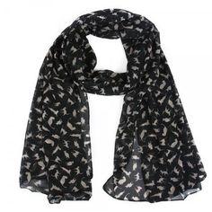 gattoso foulard nero con gattini www.gattosi.com