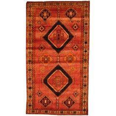 Antique 1960's Persian Hand-knotted Shiraz Red/ Beige Wool Rug (5' x 8'9) - Overstock™ Shopping - Great Deals on Runner Rugs
