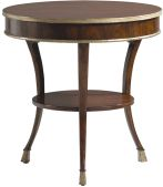 At the dawn of the 19th century, a shared neoclassical look brought decorative harmony to Europe's torn political landscape.  Even that shared look was, however, a study in contrast-restrained but daring, edited but obviously rich.  This Rosewood table elevates an entire room, whether English, French or Italian..  A remarkable side table, at its best in traffic, for the living or bedroom.