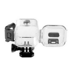 Waterproof case for Gopro Hero 4 Session Soprts Action Camera. Good for depth up to 30m / 98 feet Features: High strength PC material, waterproof and dust-proof Metal button and square frame With high