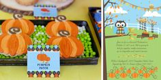 "think i really ""need"" to have a pumpkin party . . . pumpkins, owls, argyle, this is adorable"