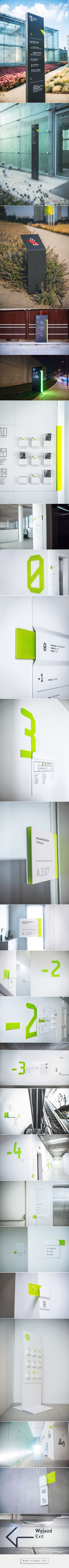 Wayfinding system in Silesian Museum on Behance - created via…