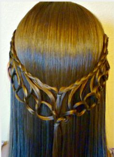 Braid Chain. A goddess like hairstyle suited for cocktail parties.