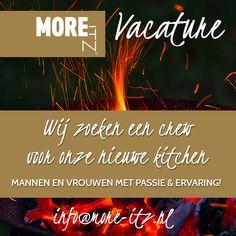 Nieuwe vacature! Wij zoeken personen met een passie voor horeca. Van kok tot afwashulp. Stuur je sollicitatiebrief en cv naar: info@more-itz.nl