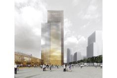Dominique Perrault Architecture - cluster d'Hôtels et bureaux à lyon part-dieu