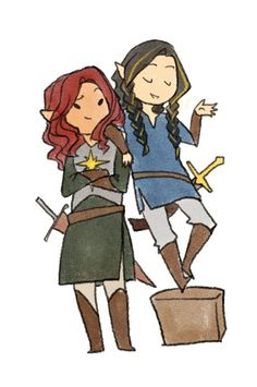 "Maedhros and Fingon--Somebody's trying to be taller. :) << THAT SENTENCE YES XD ""Short"" Fin x) <3"