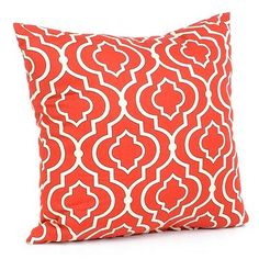 How fun is this? Our Donetta Brick Red Pillow adds interest to any room! #kirklands