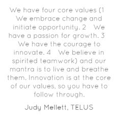 Innovation is at the core of our values