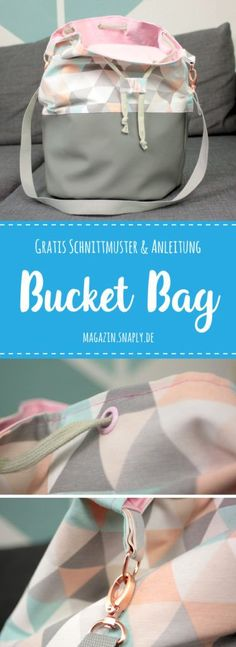 FREE Sewing Pattern + Sewing Guide: Bucket Bag The post Sew Bucket Bag – Free Pattern & Instructions appeared first on Woman Casual - DIY and crafts Sewing Projects For Beginners, Sewing Tutorials, Sewing Hacks, Sewing Tips, Sewing Crafts, Bag Sewing, Love Sewing, Sewing Patterns Free, Free Pattern
