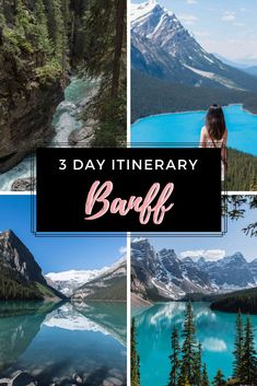 Amazing 3 Days in Banff in the Summer: The Best Banff Itinerary - Travel Destinations 2019 Cool Places To Visit, Places To Travel, Travel Destinations, Banff National Park, National Parks, Jasper National Park, Tahiti, Quebec, Best Of Banff
