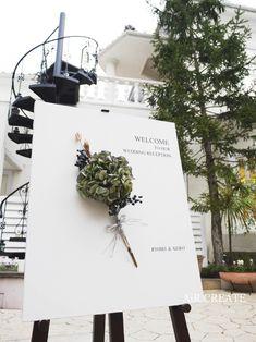 先輩カップルの結婚式実例♡〜ウェルカムボード・会場装花・ブーケ〜 @神戸北野迎賓館レイン邸  AiR CREATE