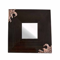 Wooden mirror with two waves. The drawing and sculpture in wax is made by the artist Marios Voutsinas. Dimensions: 25 cm x 25 cm x 1 cm Copper. Mirrors, Unique Gifts, Wax, Workshop, Copper, Sculpture, Drawings, Artist, Handmade
