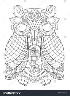 easy mandala coloring pages for kids. use as a coping strategies ... - Animal Mandala Coloring Pages Owl