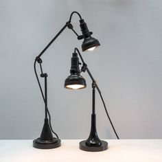 Singer Task Lights | From a unique collection of antique and modern table lamps at https://www.1stdibs.com/furniture/lighting/table-lamps/