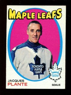 9ed7304502e s2238 - 1971-72 Topps  10 Jacques Plante Card Toronto Maple Leafs Canada  Hockey