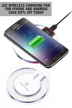 #1 MUST-HAVE TECH GIFT OF THE YEAR - ON SALE - The iPhone and Android Wireless Charging Pad with LED Lights is the unforgetable gift that everyone will love. Grab yours today!