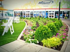 Food Court Garden at the Western & Southern Open by LaMond Landscaping