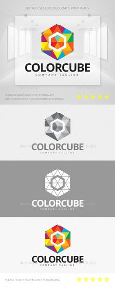 Color Cube  Logo Design Template Vector #logotype Download it here: http://graphicriver.net/item/color-cube-logo/11199199?s_rank=957?ref=nexion