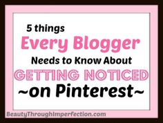 This is great! Always wondered how people can get so may pageviews and go viral just from pinterest! This post explains it all!!! 5 Ways to Get Noticed on Pinterest