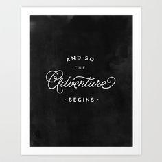 Adventure Begins - Art Print by creative index - $15.00