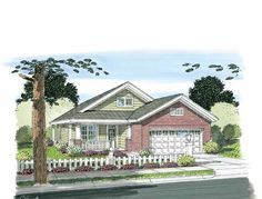 Craftsman House Plan with 1253 Square Feet and 3 Bedrooms from Dream Home Source   House Plan Code DHSW75299