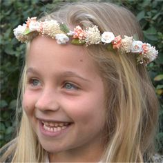 Htm, Flower Headbands, Headpieces, First Communion Party, Princess Party, Children