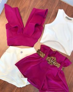 Belted Shorts Outfits, Crop Top Outfits, Chic Outfits, Fashion Outfits, Short Mini Dress, Short Dresses, African Print Fashion, Cute Summer Outfits, Look Fashion