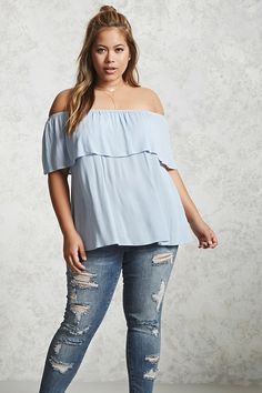 Broaden your wardrobe with Forever 21 plus size tops! Browse short and long sleeve, graphic tees, bralettes, and button-down plus size tops for women! Plus Size Tips, Plus Size Jeans, Plus Size Blouses, Plus Size Dresses, Plus Size Outfits, Curvy Women Fashion, Plus Size Fashion, Forever 21 Fashion, Curvy Girl Outfits