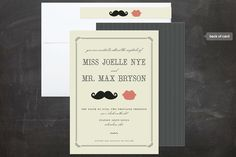 I must marry someone with a mustache so I can use these someday! Stache & Kiss Save the Date Cards by Penelope Poppy Summer Wedding Invitations, Wedding Invitation Design, Wedding Stationary, Invites, Invitation Ideas, Wedding Kiss, Free Wedding, Our Wedding, Wedding Stuff