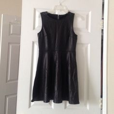 Faux leather skater dress Looks more expensive than it actually is. Great dressed up with heels or with converses. Size medium Forever 21 Dresses