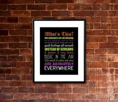 Printable HALLOWEEN The Nightmare Before by JaydotCreative on Etsy, $8.00