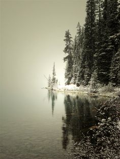 Lake Louise Photography Print 11x14 Fine Art Canadian Rockies Winter Banff Enchanted Mountain Snow Landscape Photography by WildWildernessPhotos via Etsy #fpoe