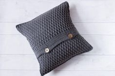 Grey Cushion Cover Accent Throw Pillow Cover Textured