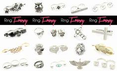 RING FRENZY at www.westyle.fi Pandora Charms, Diamond Earrings, Charmed, Jewellery, Store, Bracelets, Jewels, Schmuck, Larger