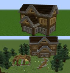 Natural entertained minecraft furniture Request My Free quote today Art Minecraft, Minecraft Structures, Minecraft Houses Survival, Cute Minecraft Houses, Minecraft House Tutorials, Minecraft Medieval, Minecraft Houses Blueprints, Minecraft Plans, Minecraft House Designs