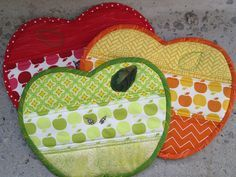 Apple Potholders by clumsy kristel, via Flickr