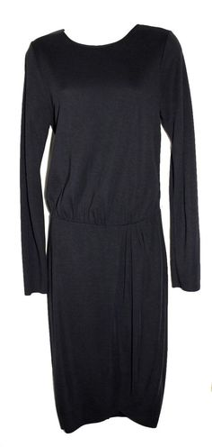 SAM & LAVI Sexy Little Black Dress LBD Long Sleeve Blouson Open Back M $385 #SamLavi #Sexy #Cocktail