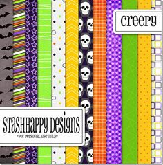 FREE Creepy Papers By StashHappy Designs