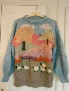 Vintage mohair sheep jumper - I love this!!